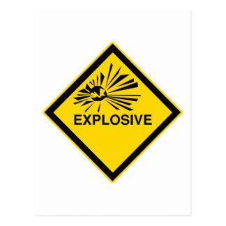 Explosivo Tarjeta Postal