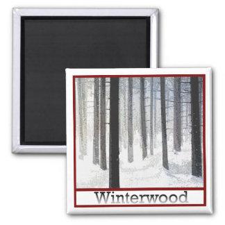 Explotación forestal de Winterwood Imán Cuadrado