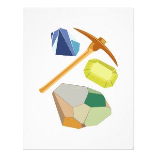 Explotación minera de la gema membrete a diseño