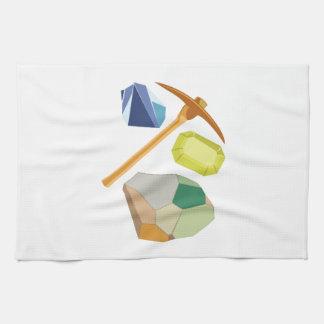 Explotación minera de la gema toallas