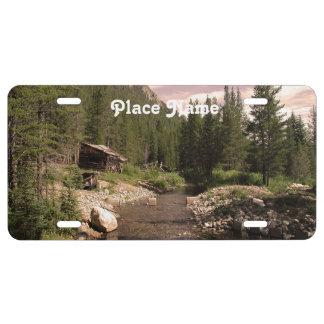 Explotación minera de Montana Placa De Matrícula