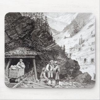 Explotación minera del oro y de la plata alfombrilla de ratones