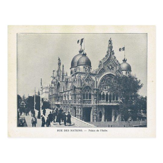 Expo 1900, ruda de nations, d'Italie de París de Tarjetas Postales