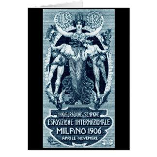 Expo 1906 del International de Milano Felicitacion