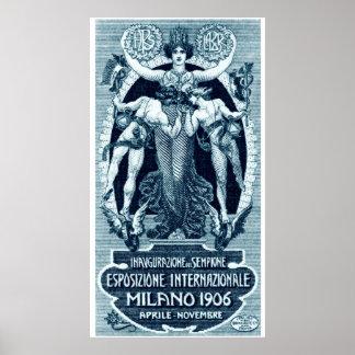 Expo 1906 del International de Milano Posters