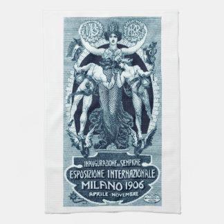 Expo 1906 del International de Milano Toallas De Mano