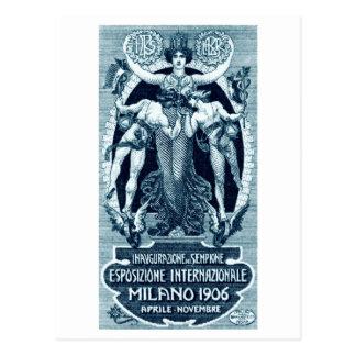 Expo 1906 del International de Milano Tarjeta Postal