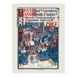 Expo 1913 del mundo Gante Flandes vieja histórica Postal