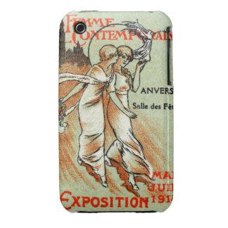 Expo 1914 para la mujer moderna funda para iPhone 3