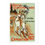 Expo 1914 para la mujer moderna postales