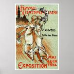 Expo 1914 para la mujer moderna posters