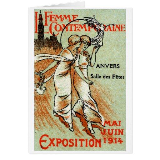 Expo 1914 para la mujer moderna tarjeta de felicitación