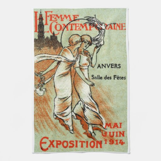 Expo 1914 para la mujer moderna toallas