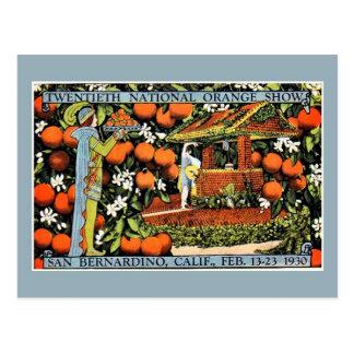 Expo anaranjada San Bernardino de la demostración Tarjetas Postales