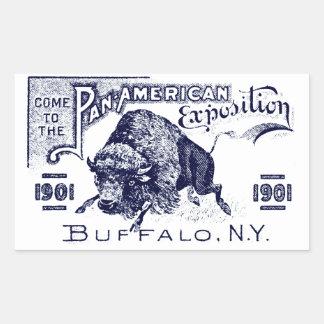 Expo Cacerola-Americana 1901 Pegatina Rectangular
