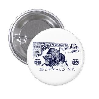 Expo Cacerola-Americana 1901 Pin Redondo De 1 Pulgada