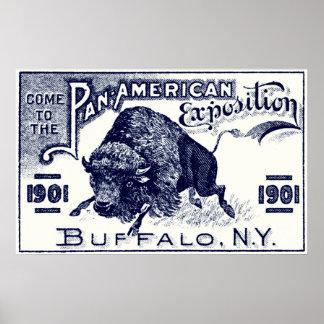 Expo Cacerola-Americana 1901 Póster