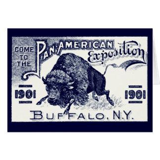 Expo Cacerola-Americana 1901 Tarjeta Pequeña