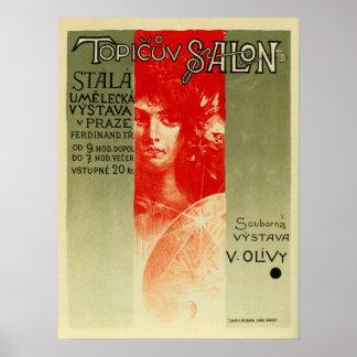 Expo checa Praga del salón del arte del vintage Posters