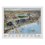 Expo colombina de Chicago, mapa panorámico de IL - Posters