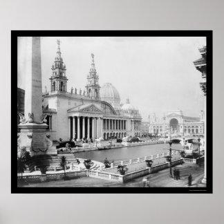 Expo colombina de los mundos en 1893 poster