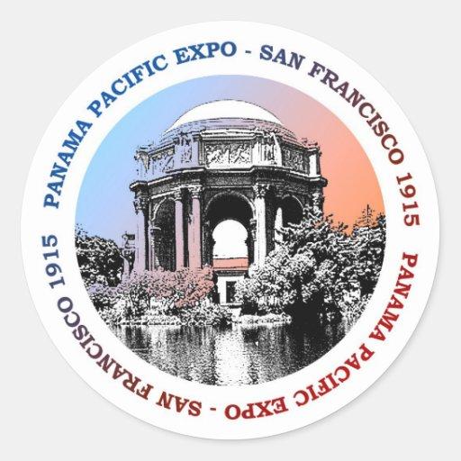 Expo de San Francisco Panamá el Pacífico Etiqueta Redonda