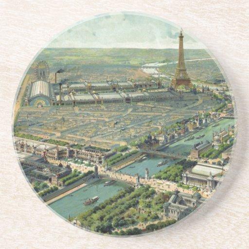 Expo del mundo París 1900 Francia Posavasos De Arenisca