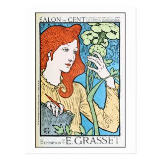 Expo hermosa Eugene Grasset del anuncio del Postales