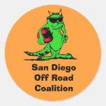 expo_liz, San Diego de la coalición del camino Etiqueta