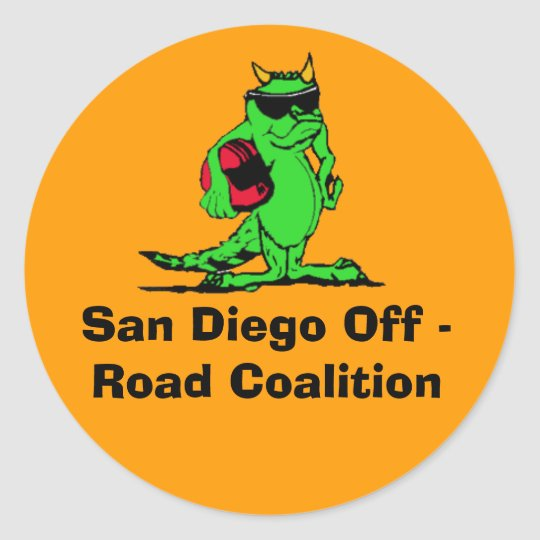 expo_liz, San Diego Off - Road Coalition Classic Round Sticker