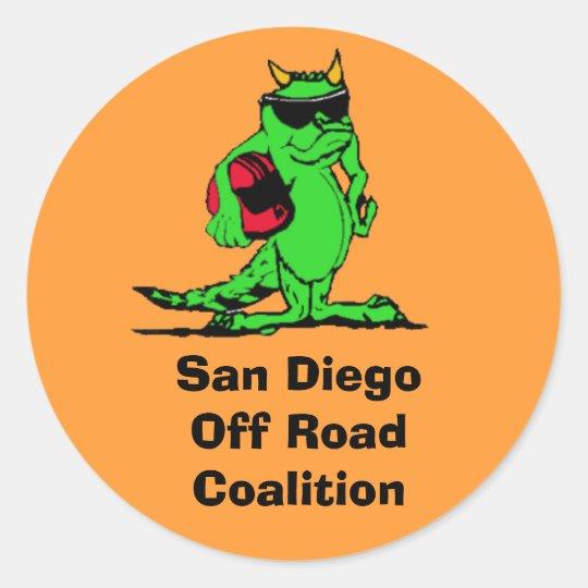 expo_liz, San Diego Off Road Coalition Classic Round Sticker