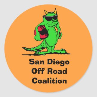 expo_liz, San Diego Off Road Coalition Round Stickers