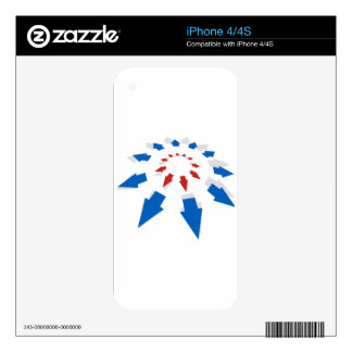 Exponential Growth Arrow Icon Chart Decal For The iPhone 4S