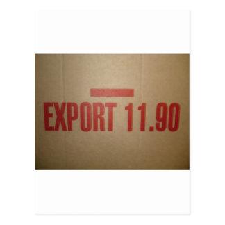 EXPORT 11 90 POSTCARD