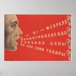 Exportación de URSS Unión Soviética que hace publi Poster