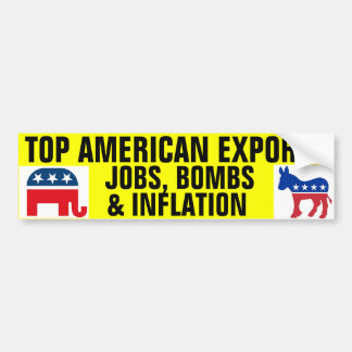 Exportaciones superiores del americano pegatina de parachoque