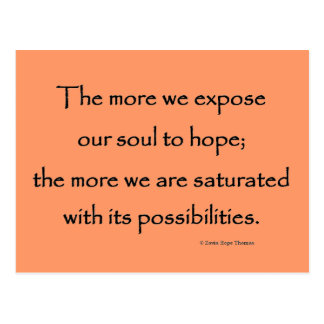 expose our soul to hope postcard