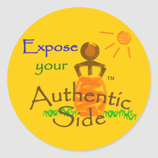 Expose your Authentic Side round sticker 4