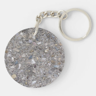 Exposed Aggregate (printed, not made of concrete) Keychain