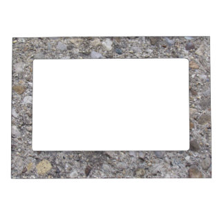 Exposed Aggregate (printed, not made of concrete) Magnetic Picture Frame
