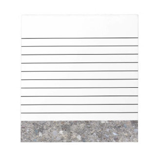 Exposed Aggregate (printed, not made of concrete) Note Pad