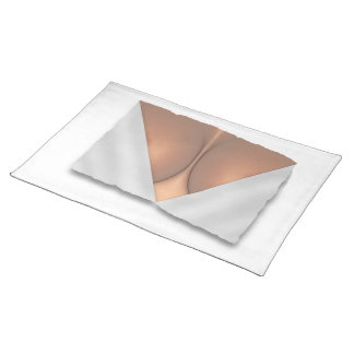 Exposed Breast Cleavage Cloth Place Mat