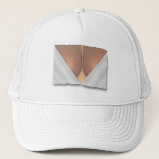 Exposed Breast Cleavage Trucker Hat