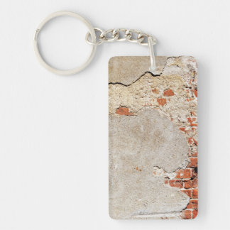 Exposed Brick and Mortar Keychain