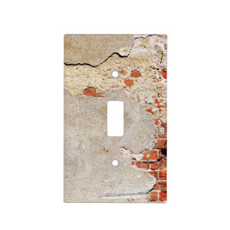 Exposed Brick and Mortar Light Switch Cover