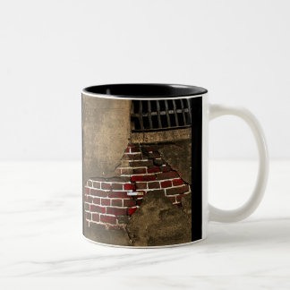 Exposed Brick Two-Tone Coffee Mug