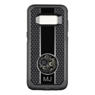 Exposed Gears Industrial Mesh with Monogram OtterBox Commuter Samsung Galaxy S8 Case