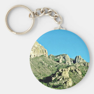 Exposed Rocks And Butte Key Chain
