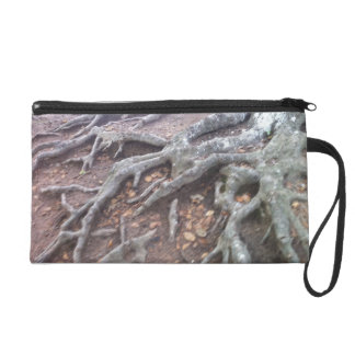 Exposed Tree Roots Forest Wristlet Purse