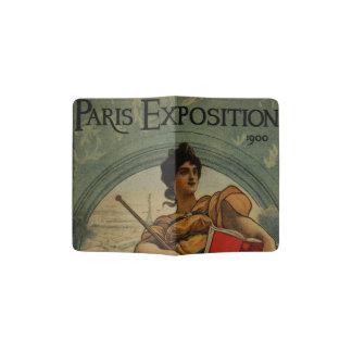 Exposición 1900 de París - arte francés del Porta Pasaporte